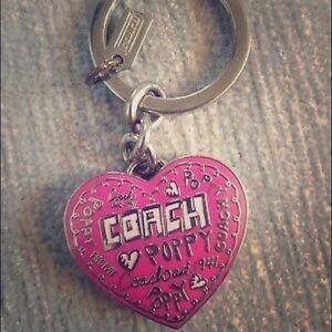 Coach Poppy Locket Keychain NWT